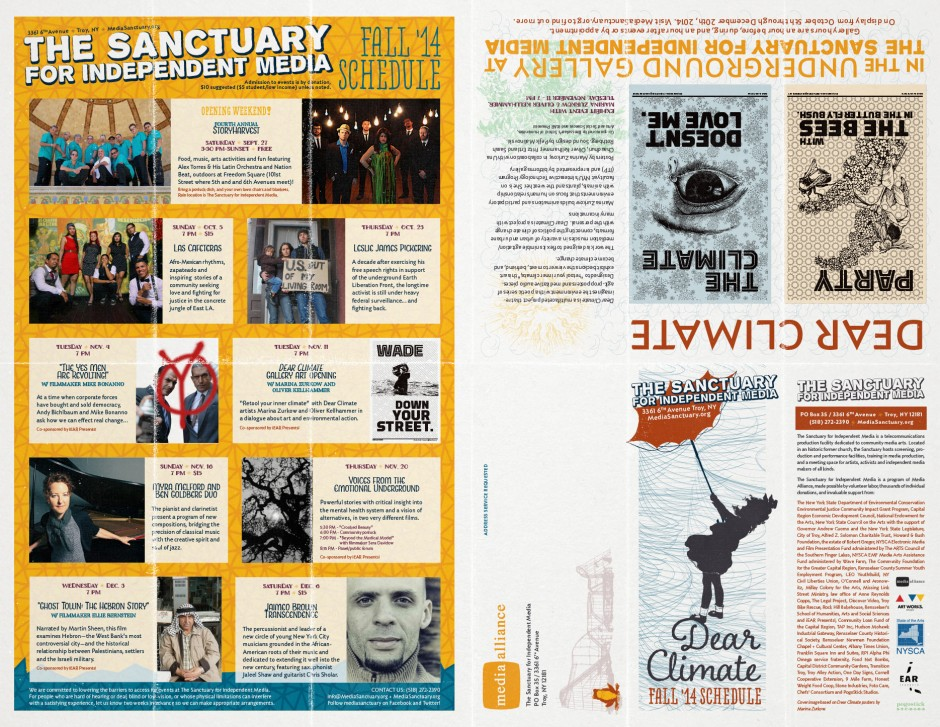 Fall 2014 Event Schedule & Newsletter - Outside