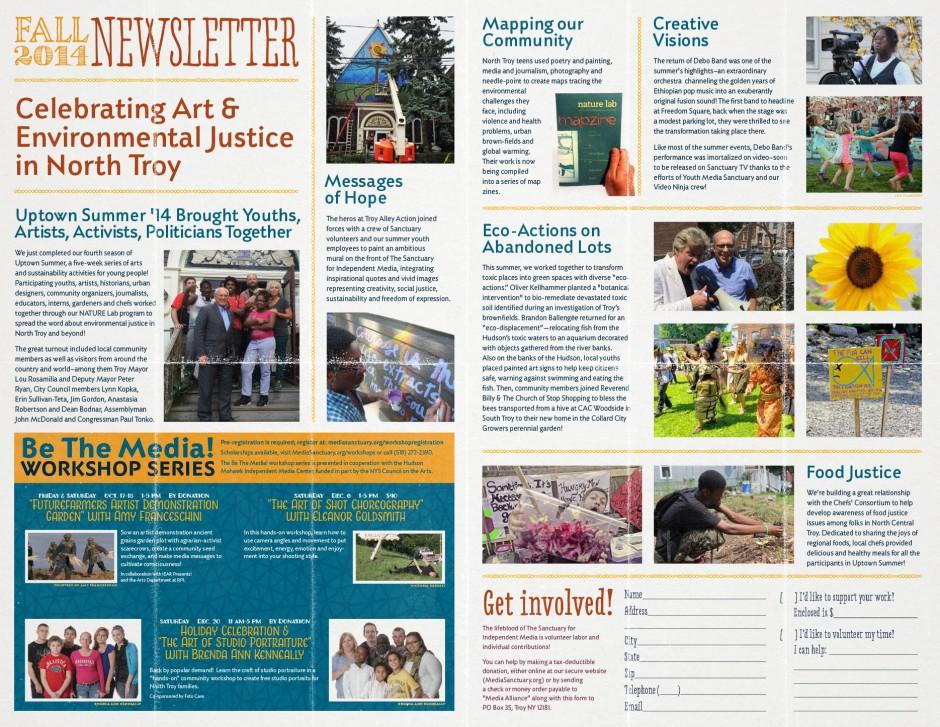Fall 2014 Event Schedule & Newsletter - Inside